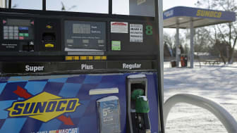 FLINT, MI - JANUARY 6 : Regular gas credit price is displayed for $1.97 a gallon at the Sunoco station January 6, 2015 in Flint, Michigan. Crude oil dropped below $50 a barrel Tuesday making