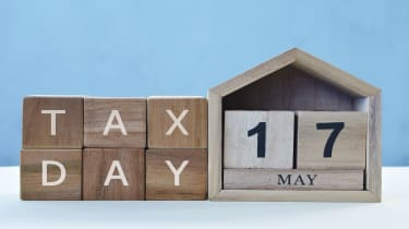 """picture of blocks spelling out """"Tax Day"""" and """"May 17"""""""