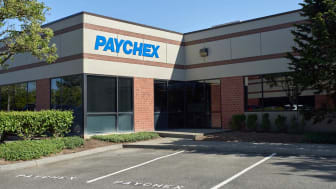 Beaverton, Oregon, USA - May 8, 2019: The PAYCHEX Beaverton Office. Paychex, Inc. is an American provider of payroll, human resource, and benefits outsourcing services for small to medium siz
