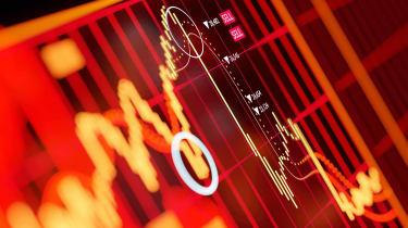 Conceptual art of stock market declines