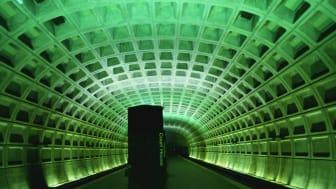 Empty Metro train station