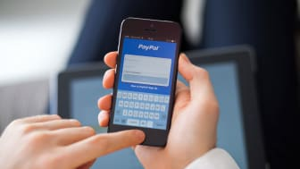 picture of PayPal screen on a phone