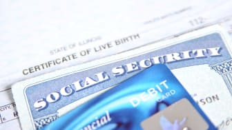 Social Security Card, Birth Certificate, and Debit Card.