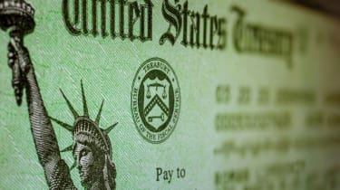 A U.S. Treasury stimulus check