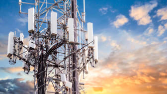 A 5G communications tower