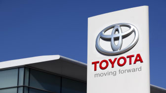 Antalya, Turkey. October 28th 2011. The roadside sign of Toyota Motors and local dealership building. Toyota is founded in 1937 in Japan. Its the worlds bigest automobile manufacturer. The co