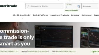 Screenshot of  TD Ameritrade home page