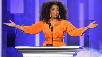 PASADENA, CA - FEBRUARY 22:Oprah Winfrey speaks onstage during the 45th NAACP Image Awards presented by TV One at Pasadena Civic Auditorium on February 22, 2014 in Pasadena, California.(Photo