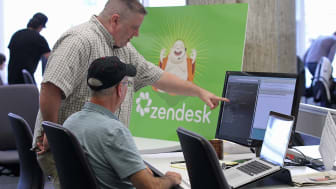 SAN FRANCISCO, CA - AUGUST 30:People watch as Zendesk works on computers at the new Zendesk office on August 30, 2011 in San Francisco, California.San Francisco mayor Ed Lee officially opened