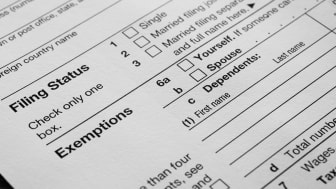 picture of a tax form showing space to list dependents