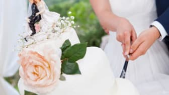 the wedding cake cutting