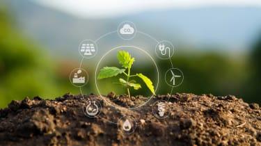 Green energy concept art