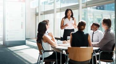 Investors in a meeting