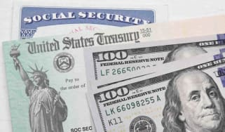 Social Security card and $100 bill