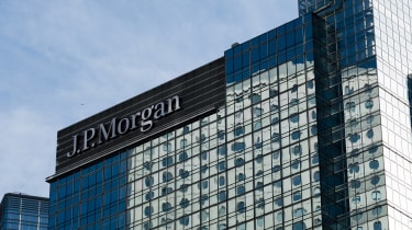 JP Morgan building is seen in Central banking district, Hong Kong.