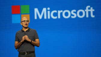 SAN FRANCISCO, CA - MARCH 30:Microsoft CEO Satya Nadella delivers the keynote address during the 2016 Microsoft Build Developer Conference on March 30, 2016 in San Francisco, California. The
