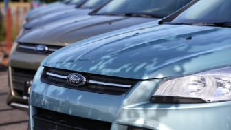 NOVATO, CA - JUNE 04:Brand new Ford Escape SUVs are displayed on the sales lot at Journey Ford on June 4, 2013 in Novato, California. Ford announced the recall of over 400,000 2013 models of