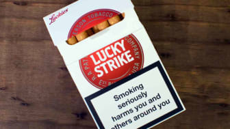 a pack of Lucky Strikes