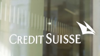 picture of window with Credit Suisse written on it