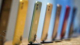 TOKYO, JAPAN - SEPTEMBER 20: Apple Inc.'s iPhone 11, iPhone11 Pro and iPhone 11 Pro Max smartphones are displayed in the Apple Marunouchi store on September 20, 2019 in Tokyo, Japan. Apple la