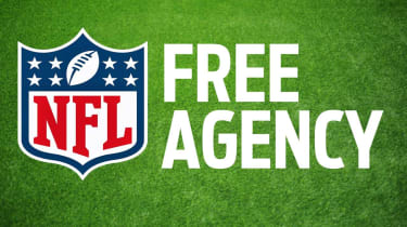 """picture of NFL logo with """"Free Agency"""" written next to it"""