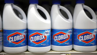SAN FRANCISCO, CA - FEBRUARY 11:Bottles of Clorox bleach sit on a shelf at a grocery store on February 11, 2011 in San Francisco, California. Shares of Clorox stock rose 7.6 percent to close