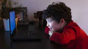 child at computer screen