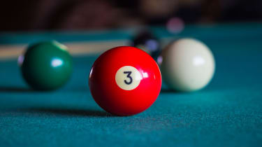 picture of three ball on billiard table