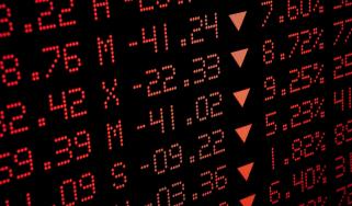 Concept art of stocks declining