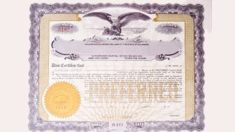U.S. Stock certificate issued in 1919.-See lightbox for more