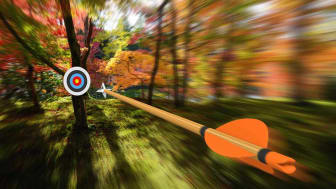 An arrow heading toward a target