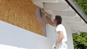 Europe, Germany, Rhineland-Palatinate,house building, house insulation with polystyrene and styrofoam