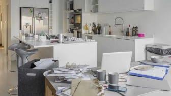 Messy kitchen countertop