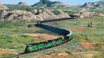 picture of train in North Dakota