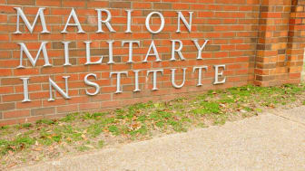 entrance sign to Marion Military Institute