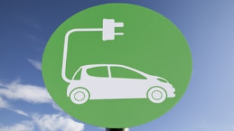 Sign for Electric Car Charging Point