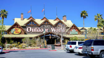 Las Vegas, USA - March 17, 2016: Outdoor World Las Vegas. Bass Pro Shops also known as Outdoor World is a privately held retailer of hunting, fishing, camping and related outdoor recreation m