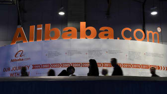 A large Alibaba sign