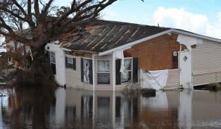 photo illustration of hurricane damage