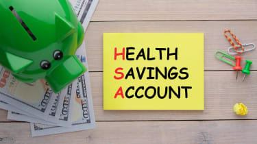 """picture of a post-it note with """"health savings account"""" written on it"""
