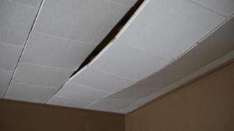 Damaged ceiling