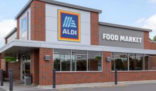 Exterior of an Aldi supermarket in Buffalo, New York