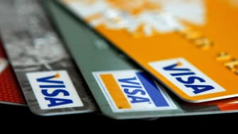 Set of Visa cards