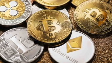 Concept art of cryptocurrencies