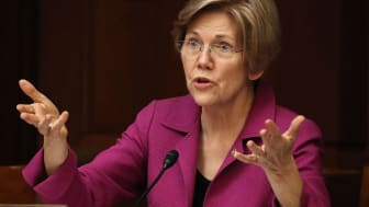 WASHINGTON, DC - JULY 19:Sen. Elizabeth Warren (D-MA) speaks during the Democratic Policy and Communications Committee hearing in the Capitol building on July 19, 2017 in Washington, DC.The h