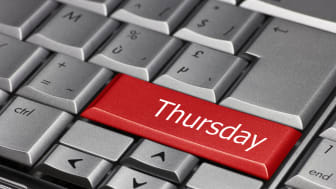 Computer key - days of the week Thursday