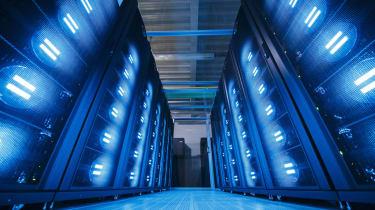 """HAMBURG, GERMANY - JUNE 07: A """"Mistral"""" supercomputer, installed in 2016, at the German Climate Computing Center (DKRZ, or Deutsches Klimarechenzentrum) on June 7, 2017 in Hamburg, Germany. T"""