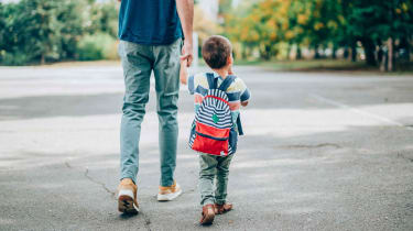 Picture of father walking with his son