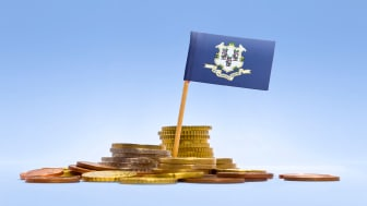 picture of Connecticut flag in coins