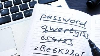 A password cheat sheet
